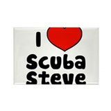I Love Scuba Steve Rectangle Magnet