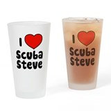 I Love Scuba Steve Drinking Glass