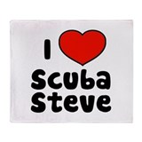 I Love Scuba Steve Throw Blanket