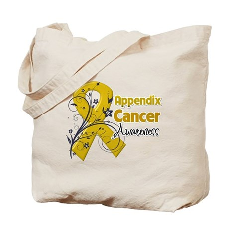 Appendix Cancer Awareness Tote Bag