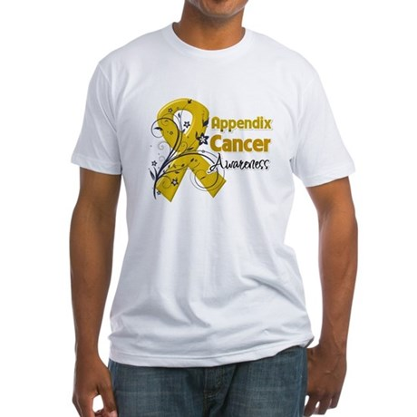 Appendix Cancer Awareness Fitted T-Shirt