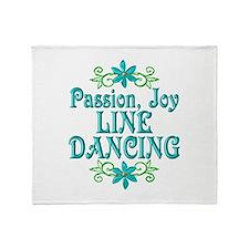 Line Dancing Joy Throw Blanket