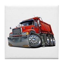 Mack Dump Truck Red Tile Coaster