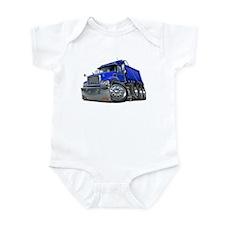 Mack Dump Truck Blue Infant Bodysuit
