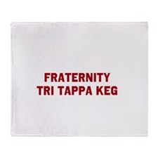 Fraternity Tri Tappa Keg Throw Blanket