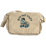 Light Blue Roller Derby Skate Messenger Bag