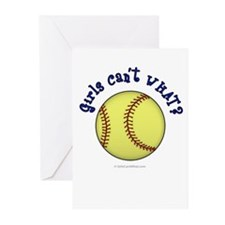 Blue Softball Team Greeting Cards (Pk of 20)