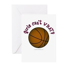 Brown/Pink Basketball Greeting Cards (Pk of 10)