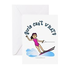 Light Water Skiing Greeting Cards (Pk of 10)