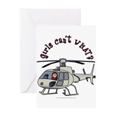 Light Helicopter Pilot Greeting Card