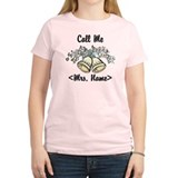 Custom Just Married (Mrs. Name) T-Shirt