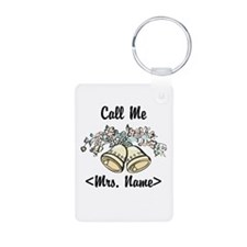 Custom Just Married (Mrs. Name) Keychains