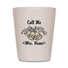Custom Just Married (Mrs. Name) Shot Glass