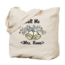 Custom Just Married (Mrs. Name) Tote Bag