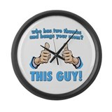 Who Bangs Your Mom? This Guy! Large Wall Clock