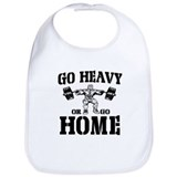 Go Heavy Or Go Home Weightlifting Bib
