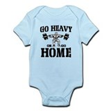 Go Heavy Or Go Home Weightlifting Infant Bodysuit