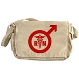 Murse Male Nurse Symbol Messenger Bag