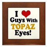 Guys With Topaz Eyes Framed Tile