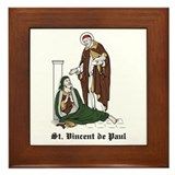 St. Vincent de Paul Framed Tile