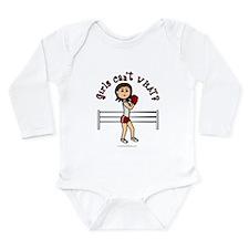 Light Red Boxer Long Sleeve Infant Bodysuit