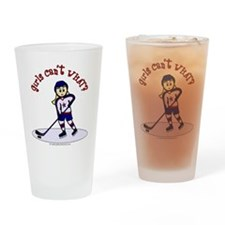 Blonde Hockey Girl Drinking Glass