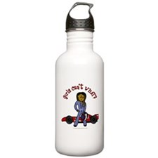 Dark Race Car Driver Sports Water Bottle