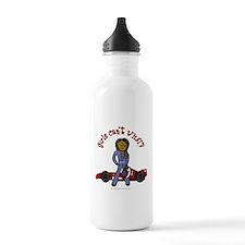 Dark Race Car Driver Water Bottle