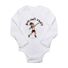 Light Red Shot Put Long Sleeve Infant Bodysuit