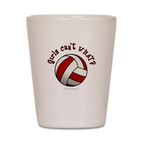 Volleyball Team - Red Shot Glass