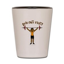 Dark Girl Weightlifting Shot Glass