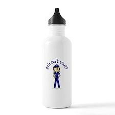 Light Police Woman Sports Water Bottle