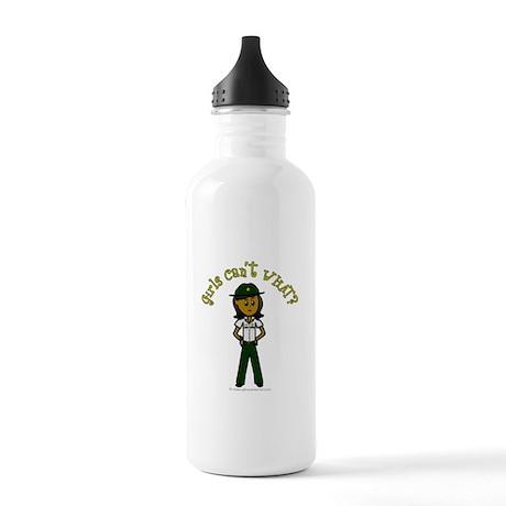 Dark Green Sheriff Stainless Water Bottle 1.0L