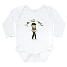 Light Brown Sheriff Long Sleeve Infant Bodysuit