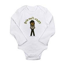 Dark Brown Sheriff Long Sleeve Infant Bodysuit