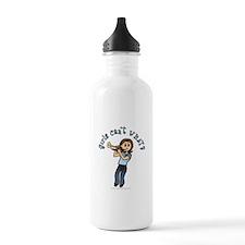 Light Trumpet Player Water Bottle
