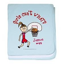 Jessica-Basketball baby blanket