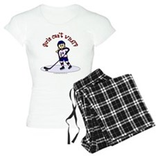 Blonde Hockey Girl Pajamas