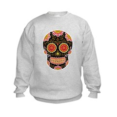 Black Sugar Skull Kids Sweatshirt