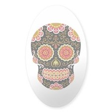 Black Sugar Skull Decal