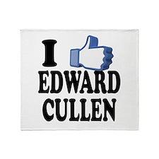 I Like Edward Cullen Twilight Throw Blanket