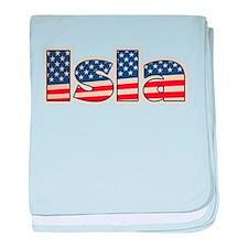 American Isla baby blanket