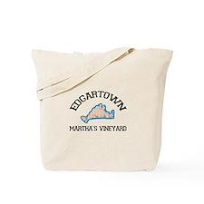 Edgartown MA - Varsity Design Tote Bag