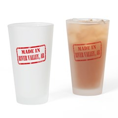 MADE IN RIVER VALLEY, AR Drinking Glass