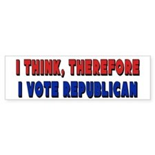 I Vote Republican Bumper Bumper Sticker