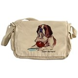 St. Bernard with Keg Messenger Bag