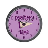 Psaltery Time Wall Clock