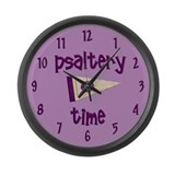Psaltery Time Large Wall Clock