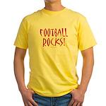 Football Rocks - Yellow T-Shirt