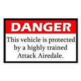 Danger Airedale Terrier Decal